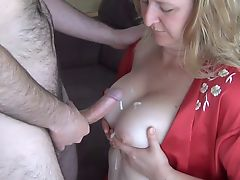 Wife Titfuck and Cum on Tits - Uncut Version