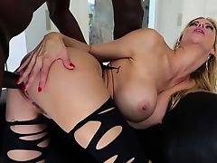 Hot Alexis gets her pussy slammed in an interracial fuck
