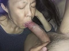 Love to suck her man's cock