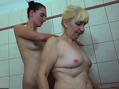 OldNannY Mature And Teen Lesbian Masturbation