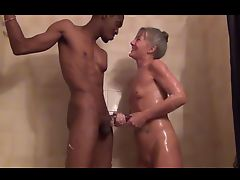 Petite Leilani Lei Granny Fucking in Shower