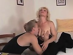 Contact me from MILF-MEET.COM - Lovely old blonde takes it f