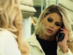 High class prostitute, Jessa Rhodes got down and dirty with two wealthy guys, at the same time