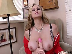 Busty Milf Julia Ann Stretches Her Pussy With Big Toy!