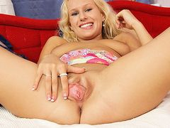 Hottest czech blonde Audrey Argento vagina close-ups