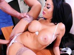 Big Tits Latina Sucks Door-to-door Dick