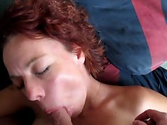 Milf Shirley swallowing a load of sperm