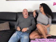 husband caught at cheating with hot german big tits latina milf