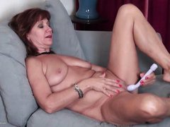 this mature redhead likes to be watched