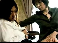 Japanese mature babe having lesbian fun with young girl