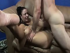 Mom with tasty boobs & hairy cunt