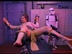 Star Wars Parody - Rey gets tied up, bondaged, pussy licked