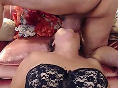 Wife licking balls